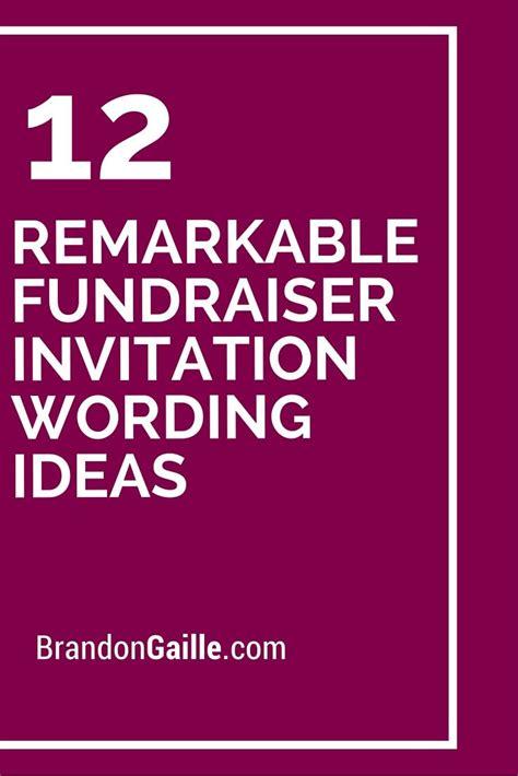 Fundraising Dinner Invitation Letter Funeral Fundraiser Wording Vertola