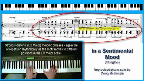 tutorial piano in the mood in a sentimental mood jazz piano tutorial youtube