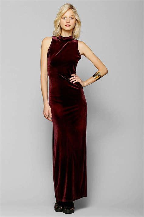 She Maxi minkpink there she goes velvet maxi dress