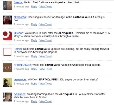 earthquake twitter twitter and the earthquake instant news jacob morgan