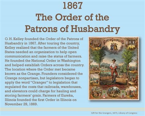 1867 the order of the patrons of husbandry