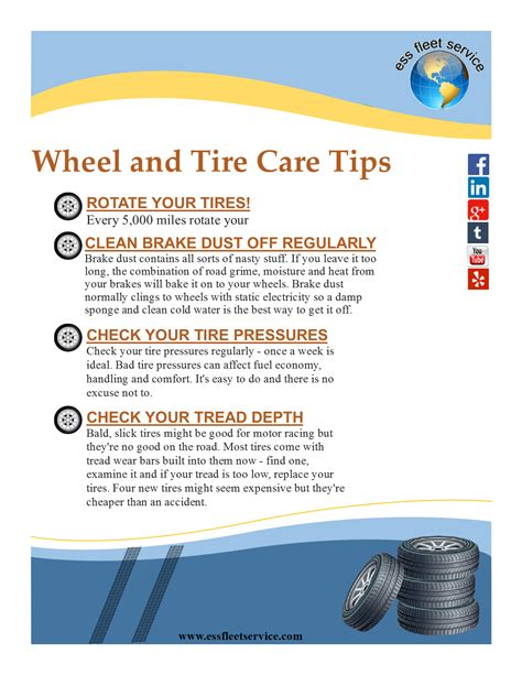 home care tips home care tips wheel and tire care tips ess fleet service