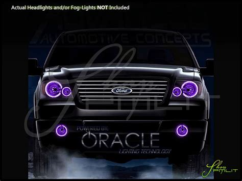 ford halo lights oracle 04 08 ford f150 led colorshift halo rings