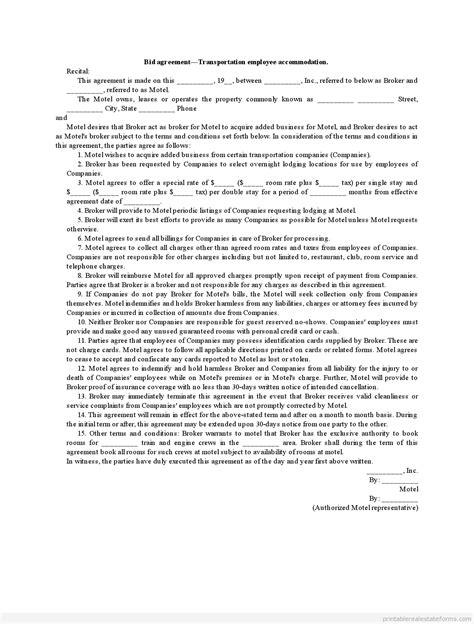 Agreement Letter For Transportation Request bid agreement transportation employee accommodation pdf