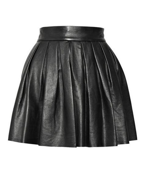 shoque plus size leather skirt leather4sure pleated