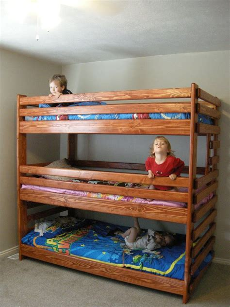 3 Level Bunk Bed 13 Best Images About Bunk Bed Plans On Pinterest End Of Hardware And Sleep