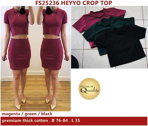 Baju Crop Import heyyo crop top supplier baju bangkok korea dan hongkong premium quality import thailand