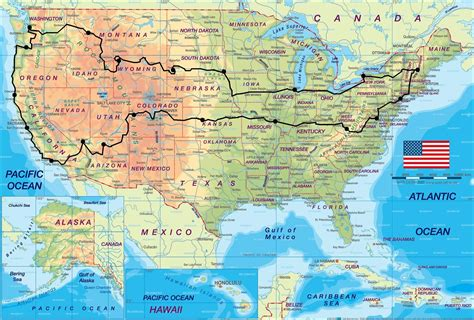 country map usa i want to take a laid back road trip across the us and