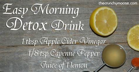 Easy Safe Detox Diet by Morning Lemon Detox With Lemons Apple Cider Vinegar