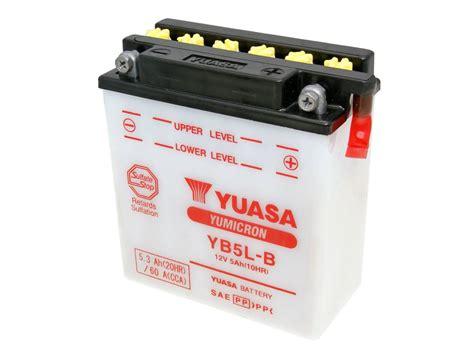 Aki Motor Yuasa Yb5l B Kit Yumicron batterie yuasa yumicron yb5l b ohne s 228 urepack