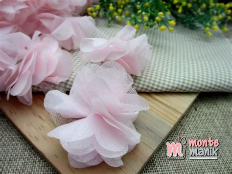 Bunga Frill Lusinan Bunga Frill Aplikasi Bunga Frill aplikasi bunga frill pink muda apb 035 montemanik