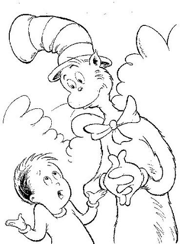 coloring page of dr seuss hat 7 picture of dr seuss hat coloring pages