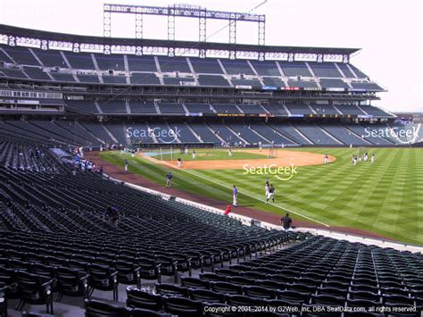 coors field section 117 seat views seatgeek