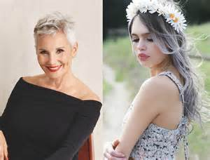 cheveux gris on ose cette tendance femme actuelle