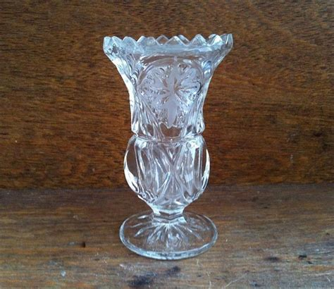 Small Glass Bud Vases by Vintage Small Bud Vase Clear Glass