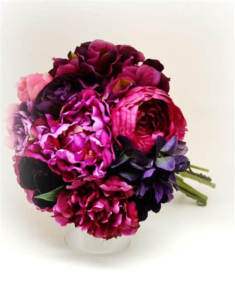 peonies bouquet peony hydrangea bouquet bridal bouquet dark pink