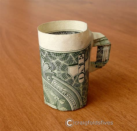 How To Make A Paper Coffee Cup - dollar origami coffee cup v1 dollar origami coffee cup