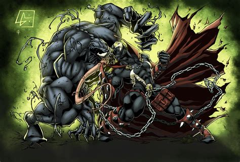 venom vs spawn by logicfun on deviantart