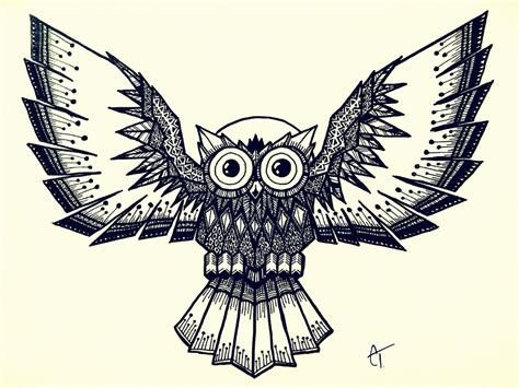 doodle owl owl doodle by parallel echo on deviantart