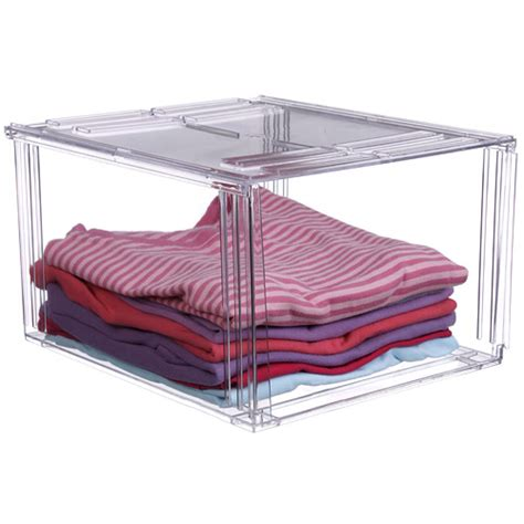 clothing storage bins crystal clear clothing storage bin in shelf bins