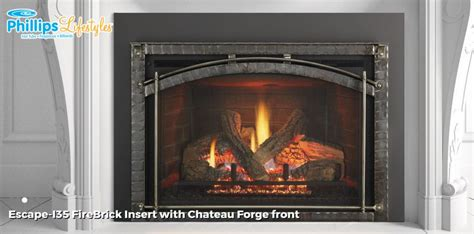 gas fireplaces ct inserts zero 100 escape i35 chateau forge color by wood burning stove