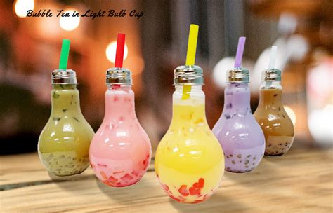 light bulb tea light bulb tea cups has arrived 茶宝 qbubble