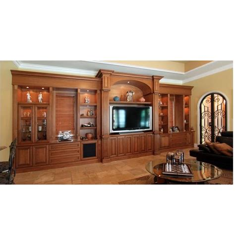 Solid Wood Kitchen Cabinets Lcd Cabinets And Shelves Hpd346 Lcd Cabinets Al Habib