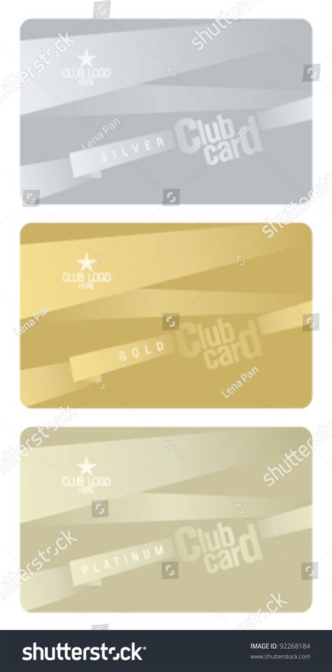plastic card design template club plastic cards design template stock vector 92268184