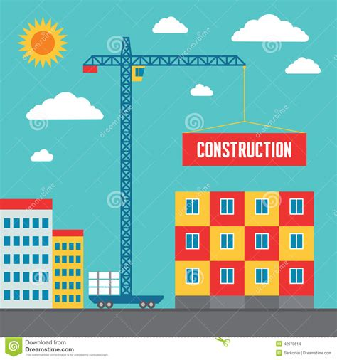 creative construction and design construction of building concept vector illustration in