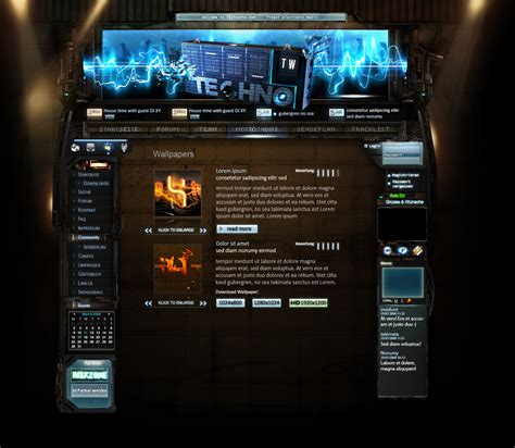 templates for radio website webradio template by xphan on deviantart