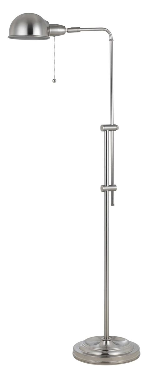 pharmacy floor l with adjustable pole cal lighting brushed steel 60w croby pharmacy floor l
