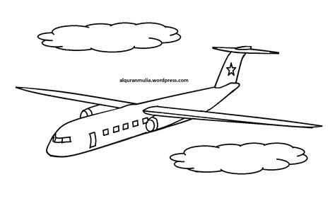 10 mewarnai gambar pesawat terbang