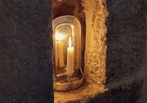 candelabros de pared candelabro de pared gris esta 241 o cm 14x28 by cosi
