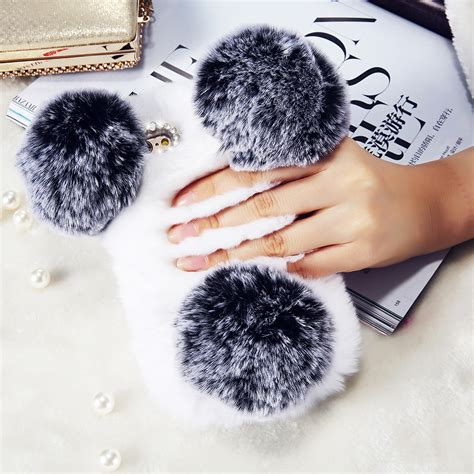 Iphone 6 6s Soft 3d Rabbit Fur Plush Flurry Sarung Casing buy wholesale rabbit bears from china rabbit bears