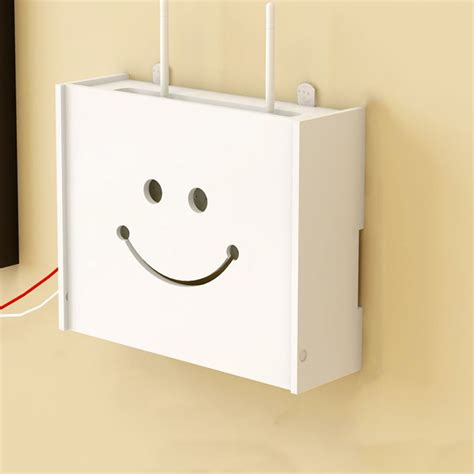 Router Shelf by White Wireless Wifi Router Storage Box Wood Shelf Wall Hangings Organiser Rack Ebay