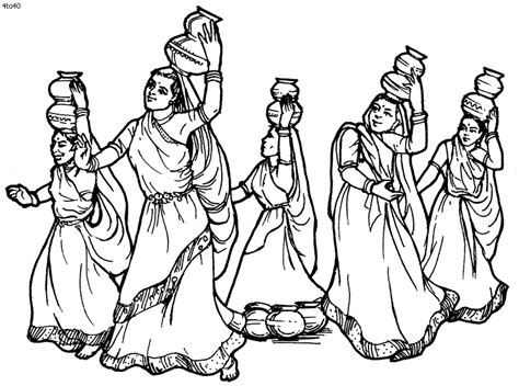 coloring pages festivals india festival clipart indian folk dance pencil and in color