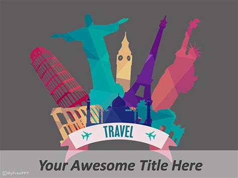 Free Travel Plan Powerpoint Templates Myfreeppt Com Template Powerpoint Travel