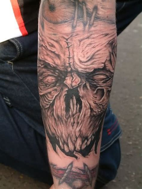 wicked skull tattoos evil images designs