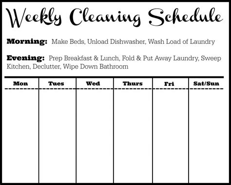 Cleaning Schedule Template Tips Southern Savers Cleaning Template