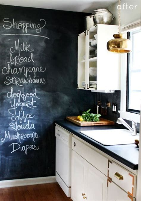 chalkboard paint vs chalkboard contact paper how about some before and after 33 photos