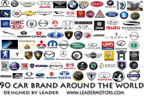 all car logos and names in the world l e a d e r m o t o r s
