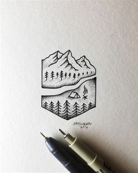what is a tattoo pen called 25 best ideas about geometric mountain tattoo on