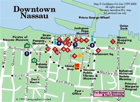 walking tour nassau bahamas map
