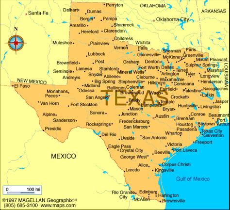 map of the state of texas texas map