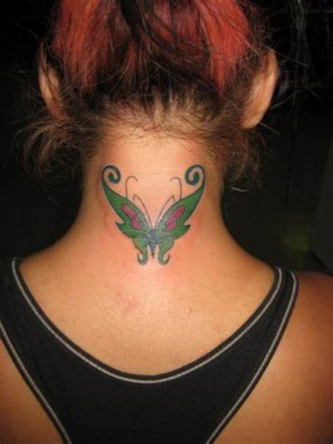 womens neck tattoos designs back of neck tattoos for design designs