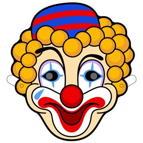 clown mask printable teatro mascaras 2 pinterest