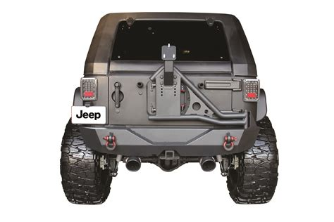 jeep rear bumper jeep wrangler jk rear steel bumper tire carrier go industries