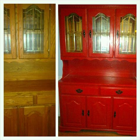 Before And After Painted China Cabinet Furniture