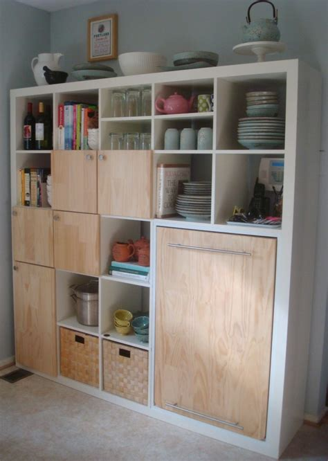 ikea kitchen storage ideas expedit kitchen storage and counter home decorating
