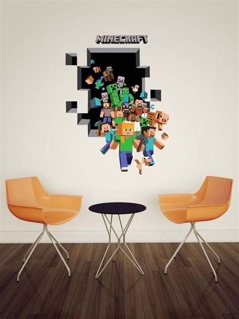 wallpaper 3d sticker 2015 new minecraft wall stickers creeper enderman